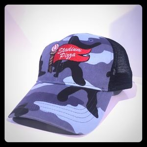 Other - Stadium Pizza Resturant Camo Hat Used Snap Blue